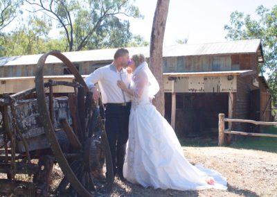 Wedding Kiss at Stoney Creek Farmstay